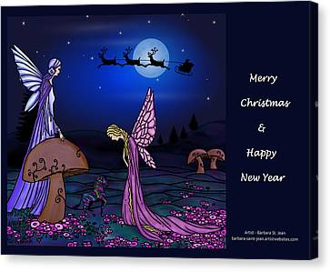 Fairy Christmas Card Canvas Print by Barbara St Jean