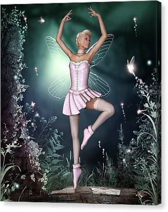 Fairy Dance Canvas Print by David Griffith