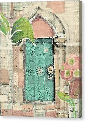 Fairy Door Canvas Print by Carrie Joy Byrnes