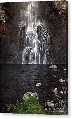Canvas Print featuring the photograph Fairy Falls - Yellowstone National Park by Craig J Satterlee