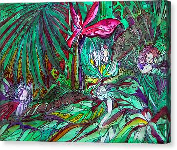 Fairy Forest Canvas Print by Mindy Newman
