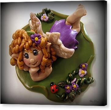 Fairy In Purple Canvas Print by Trina Prenzi