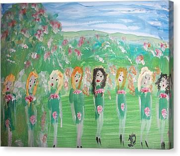 Fairy Irish Jig Canvas Print by Judith Desrosiers