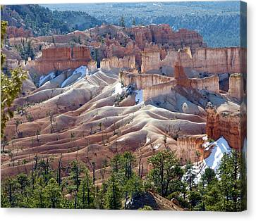 Fairy Land Hoodoos Canvas Print by Amelia Racca