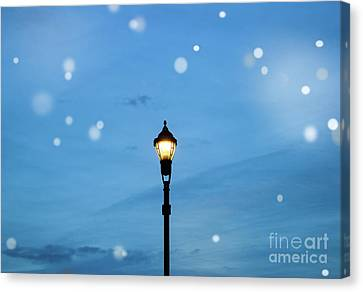 Night Lamp Canvas Print - Fairy Light by Colleen Kammerer