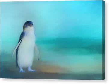 Fairy Penguin Western Australia Canvas Print by Michelle Wrighton