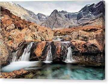 Canvas Print featuring the photograph Fairy Pools by Grant Glendinning