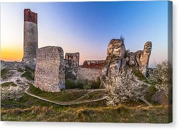 Fairy Tale Castle Remnants Canvas Print by Julis Simo