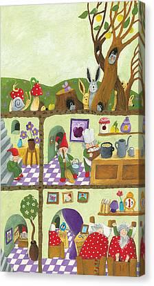 Fairy Tales Dwarf's Underground House Canvas Print by Hicham  Attalbi alami