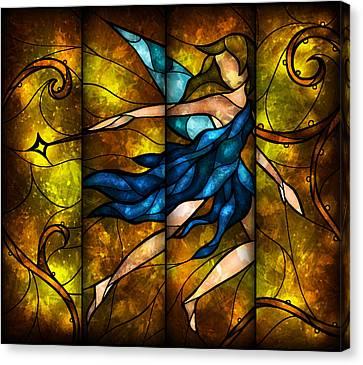 Fairy Tetraptych Canvas Print by Mandie Manzano