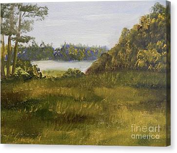 Canvas Print featuring the painting Fairy Trail by Pamela Meredith