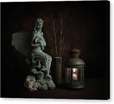 Fairy With Lilies Canvas Print by Tom Mc Nemar