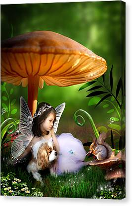 Fairy Woodland Canvas Print by Julie L Hoddinott