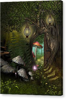 Fairy Woods Canvas Print by David Griffith