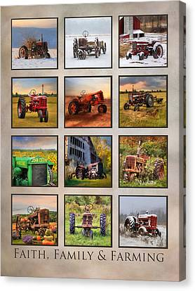 Faith, Family And Farming Canvas Print by Lori Deiter