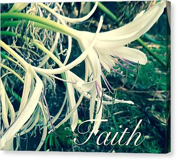 Faith- Flowers Canvas Print