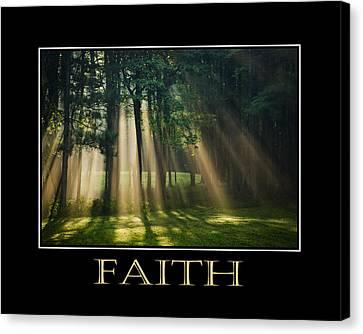 Faith Inspirational Motivational Poster Art Canvas Print by Christina Rollo