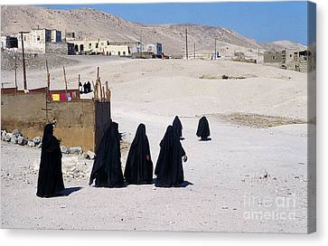 Canvas Print featuring the photograph Faith Past And Present - Mourners by Urft Valley Art