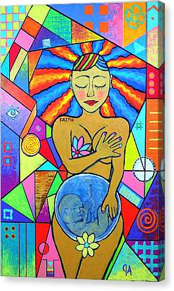 Faith, She Carries The World On Her Hips Canvas Print