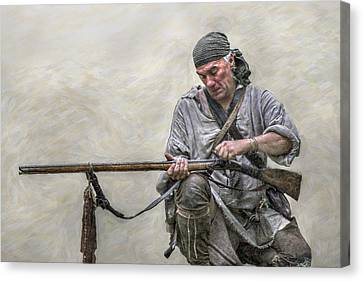 French And Indian War Canvas Print - Faithful Friend by Randy Steele