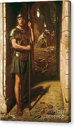 Destruction Canvas Print - Faithful Unto Death by Sir Edward John Poynter