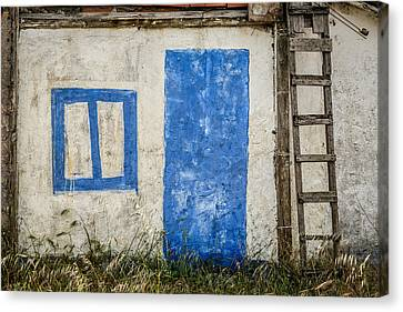 Fake Blue Door Canvas Print by Marco Oliveira