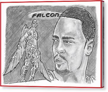 Falcon Canvas Print by Chris DelVecchio