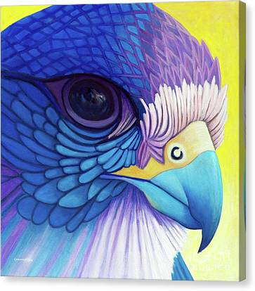 Falcon Medicine Canvas Print by Brian  Commerford