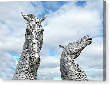 Kelpie Canvas Print - Falkirk - Scotland by Joana Kruse