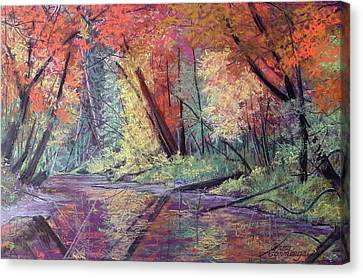 Fall Along The River Canvas Print