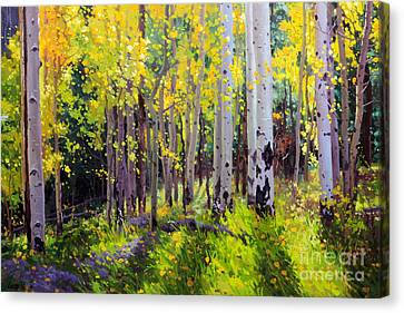 Fall Aspen Forest Canvas Print by Gary Kim