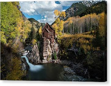 Mills Canvas Print - Fall At Crystal Mill by James Udall