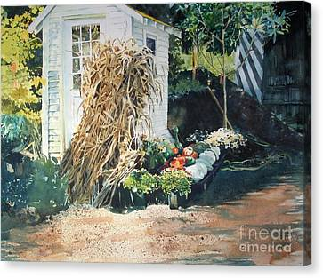 Fall At Ivy Corners Canvas Print by Elizabeth Carr