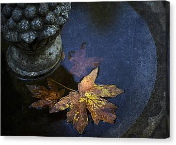 Fall At The Fountain Canvas Print by Rebecca Cozart