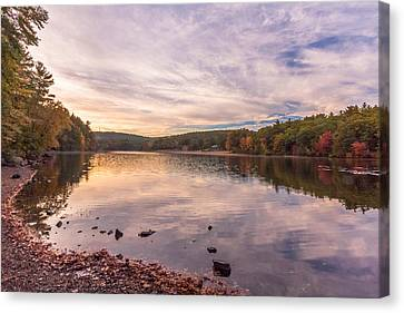 Fall At The Pond Canvas Print by Brian MacLean