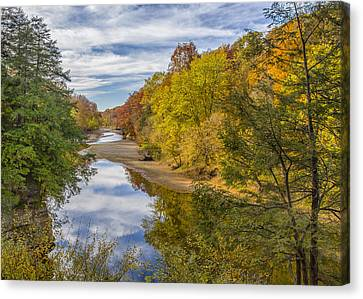 Fall At Turkey Run State Park Canvas Print by Alan Toepfer