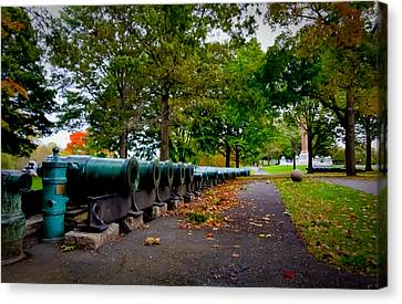 Fall At West Point Canvas Print by David Hahn