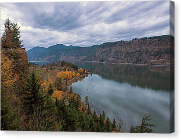 Canvas Print - Fall Color At Ruthton Point In Hood River Oregon by David Gn