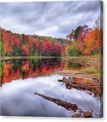 Canvas Print featuring the photograph Fall Color At The Pond by David Patterson