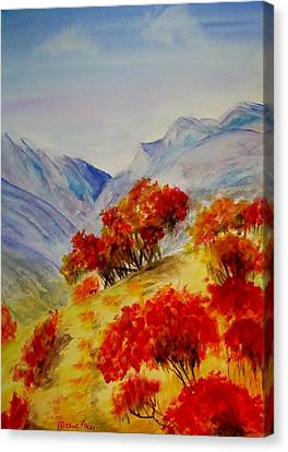 Canvas Print featuring the painting Fall Color by Jamie Frier
