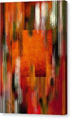 Warm Canvas Print - Fall Colors Abstract by Art Spectrum