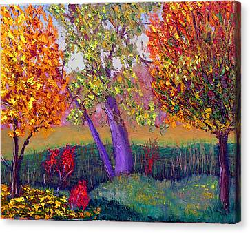 Fall Colors Canvas Print by Stan Hamilton