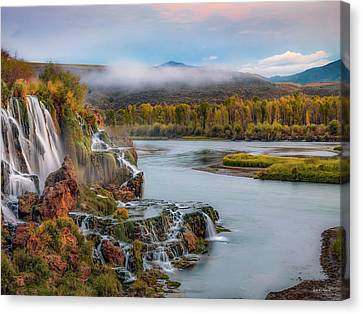 Fall Creek Autumn Canvas Print by Leland D Howard