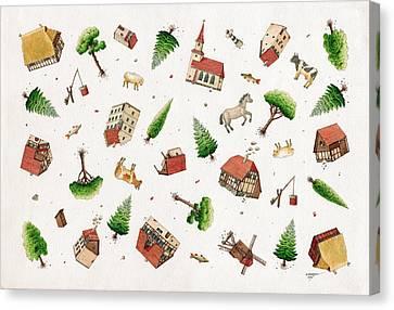Fall Down Canvas Print by Kestutis Kasparavicius