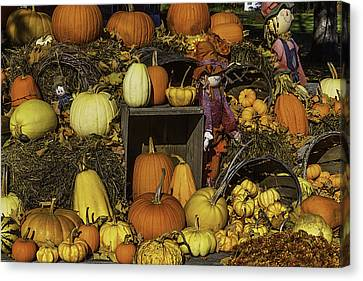 Farm Stand Canvas Print - Fall Farm Stand by Garry Gay