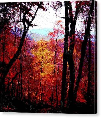 Fall Fire Canvas Print by Gerhardt Isringhaus