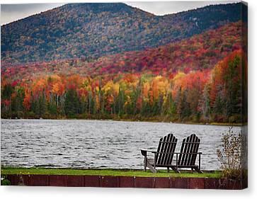 Fall Foliage At Noyes Pond Canvas Print