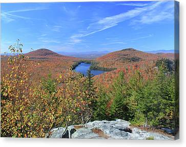 Fall Foliage At Owl's Head Groton State Forest Canvas Print by John Burk