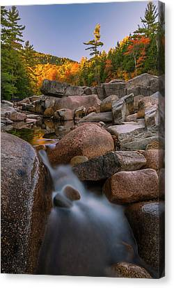 Canvas Print featuring the photograph Fall Foliage In New Hampshire Swift River by Ranjay Mitra