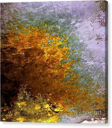 Canvas Print featuring the digital art Fall Foliage by John Krakora